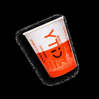 оранжевый стаканчик