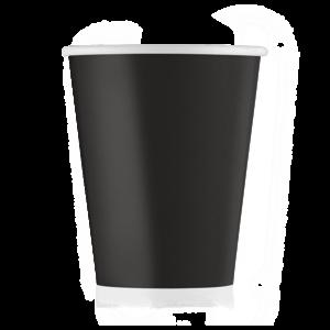 Стакан бумажный чёрный 165 мл