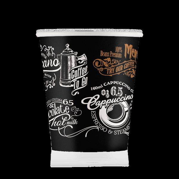 Стакан бумажный дизайн-Д06 175 мл