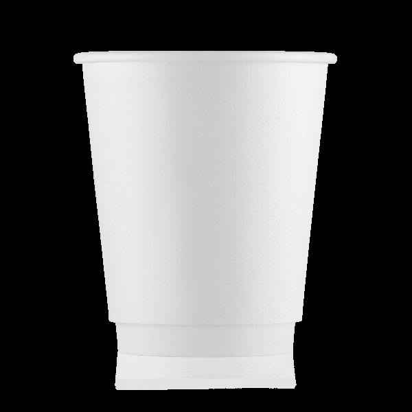 Стакан бумажный белый 250 мл двойная стенка