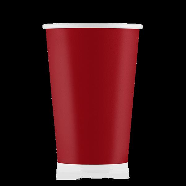 Стакан бумажный красный  400 мл