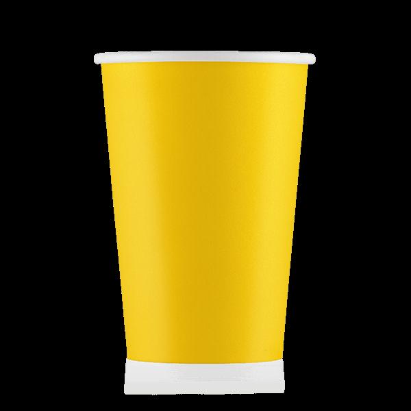 Стакан бумажный жёлтый  400 мл