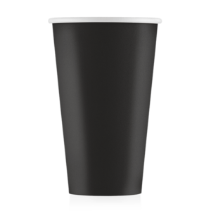 Стакан бумажный чёрный 500 мл