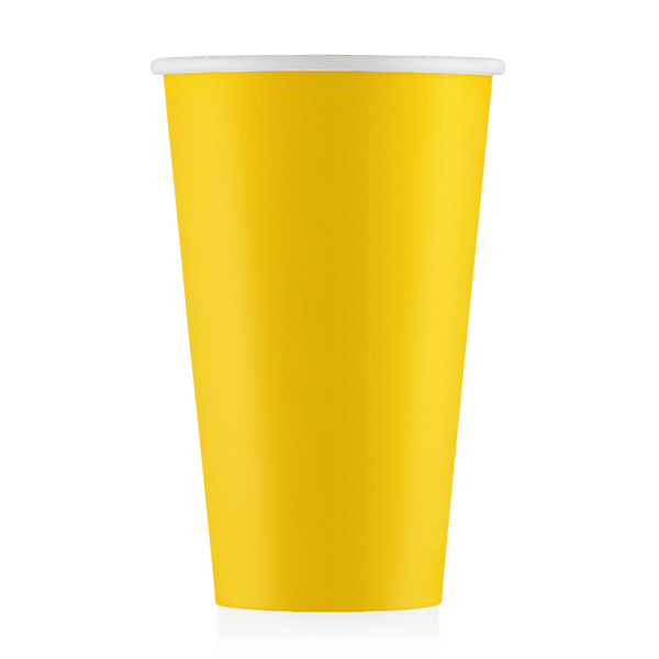 Стакан бумажный жёлтый  500 мл