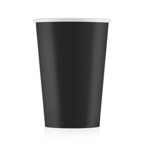Стакан бумажный чёрный 400 мл
