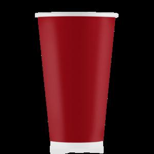 Стакан бумажный красный  500 мл