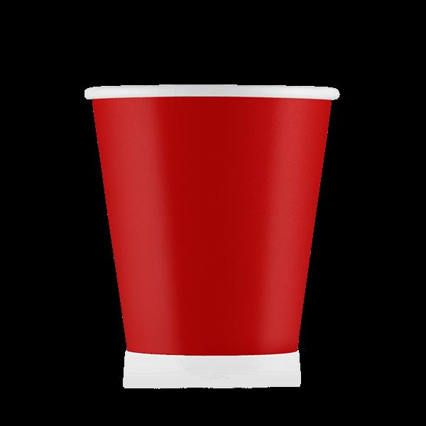 Стакан бумажный красный 110 мл