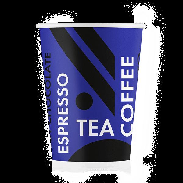 Стакан бумажный дизайн-Coffee Tea Синий 250 мл