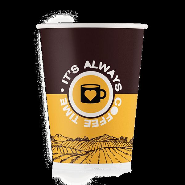 Стакан бумажный дизайн-Coffee Time 250 мл