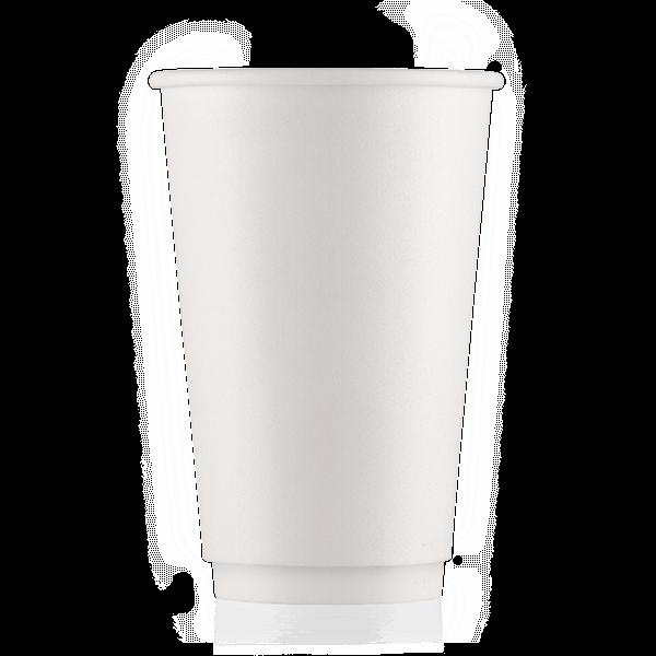 Стакан бумажный белый 400 мл двойная стенка