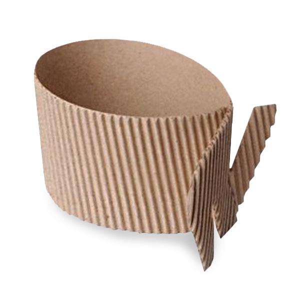 Манжета для стакана универсальная (двухслойная, крафт картон)