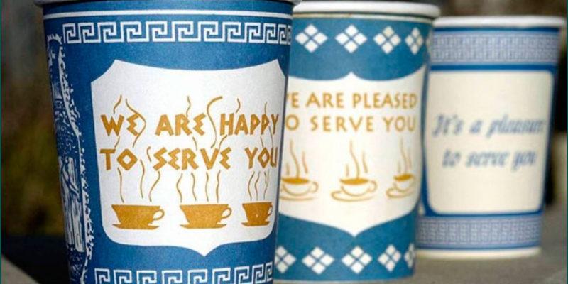 Что такое стаканчик Anthora – греческий стиль