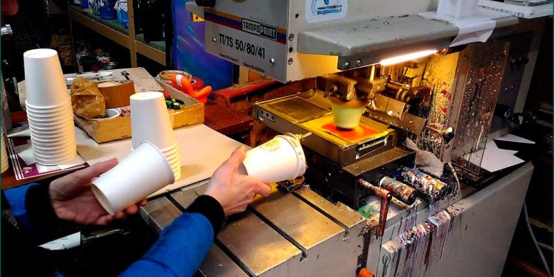 Производство одноразовых стаканов: одно- и двухслойные